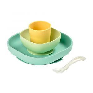 Silicone Meal Set (4 pcs)_Yellow