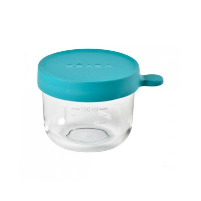 Beaba 150 ml Conservation Jar in Superior Quality Glass - Blue_Blue
