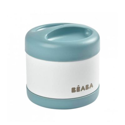 Beaba Stainless Steel Isothermal Portion 500ml - Baltic Blue-White-08