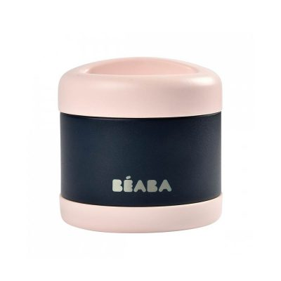 Beaba Stainless Steel Isothermal Portion 500ml - Light Pink-Night Blue-08