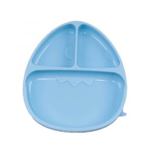 Monee-Dinosaur Silicone Suction Food Plate-Blue