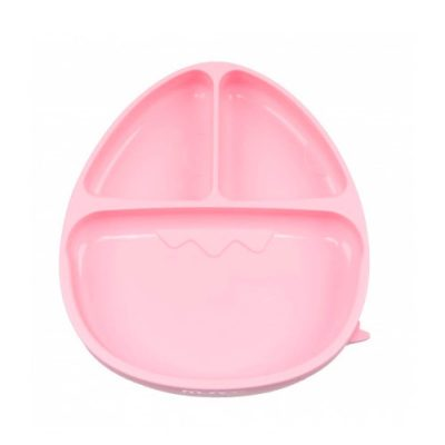Monee-Dinosaur Silicone Suction Food Plate-Pink